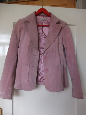 Clockhouse Leather Blazer light pink suede