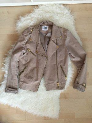 Wildlederjacke Vero moda Leder beige