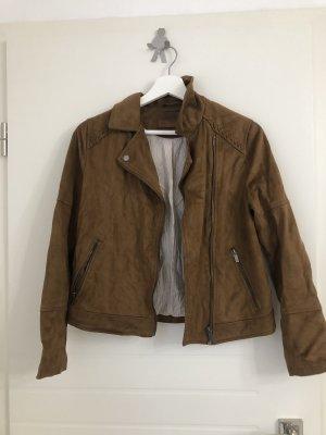 Zara Fake Fur Jacket cognac-coloured-brown