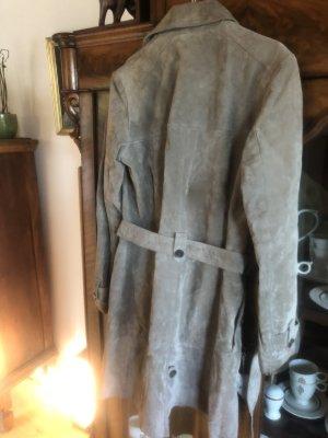 Leather Coat grey