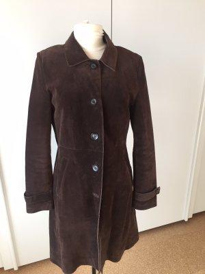 Zero Leather Coat dark brown