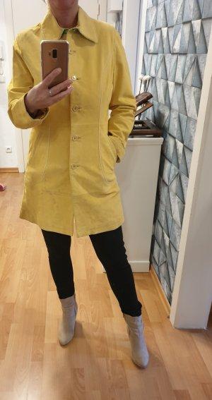 Snap Shot Leather Coat yellow