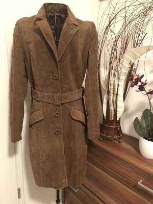 C&A Leather Coat brown suede