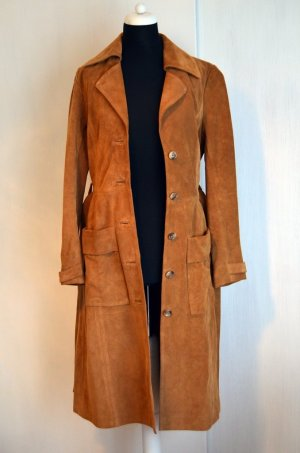 Wildledermantel Wildleder Mantel Trench Coat H&M Trend 36