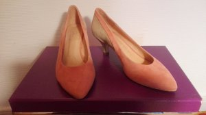 Wildlederpump, rosa/beige 38