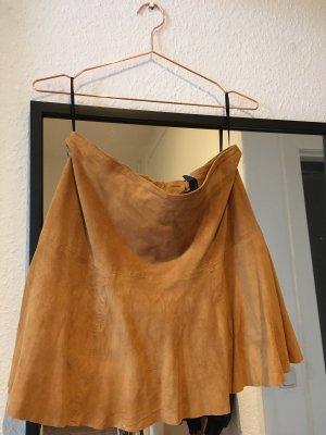 Vero Moda Leather Skirt sand brown