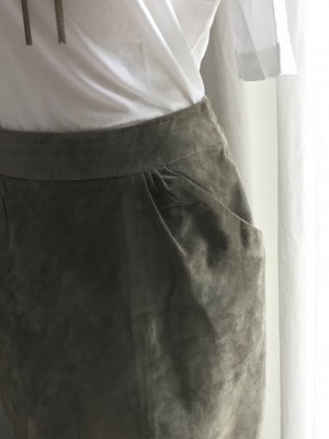 H&M Leren rok grijs-bruin