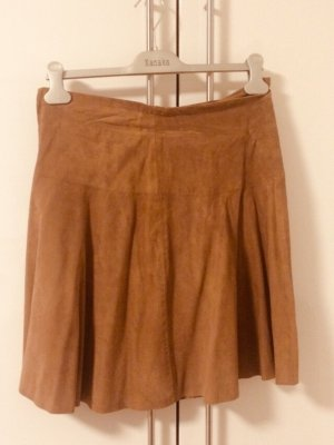 Riani Leather Skirt light brown-camel