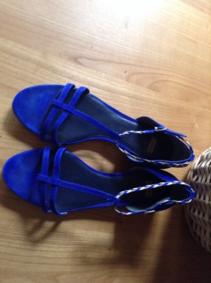 Camper Strapped High-Heeled Sandals blue suede