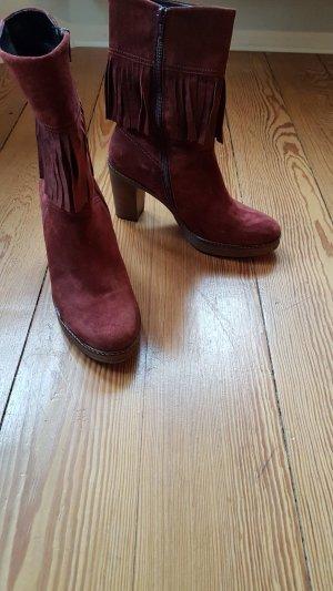 Gabor Laarzen met hak karmijn-roodbruin