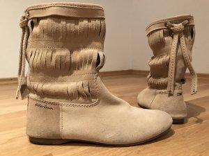 Tommy Hilfiger Denim Korte laarzen camel-olijfgroen Suede