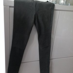 Wildlederstrechhose/leggins grau