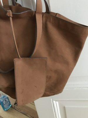 Wildledertasche braun von WHISTLES
