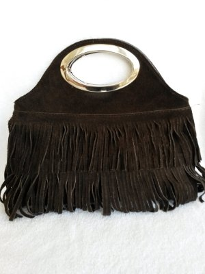 Frame Bag bronze-colored suede