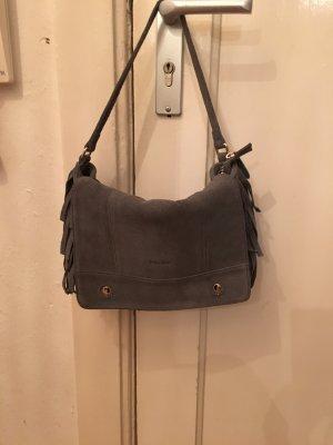 Kate Lee Fringed Bag grey