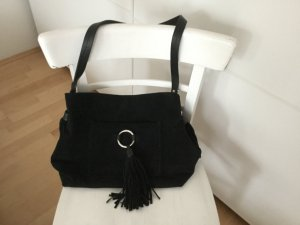 Zara Shoulder Bag black-silver-colored