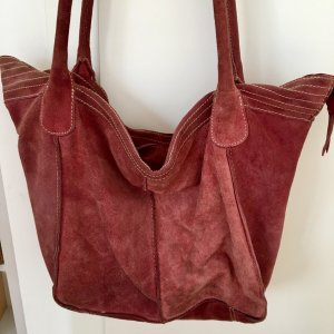 5th Avenue Pouch Bag pink suede