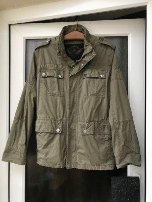 Veste militaire gris vert coton