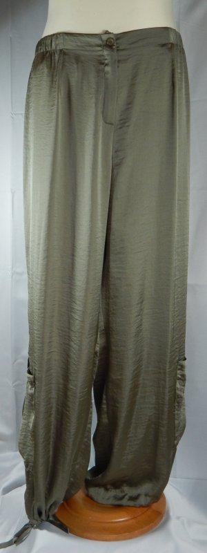 Pantalón de cintura alta verde oscuro