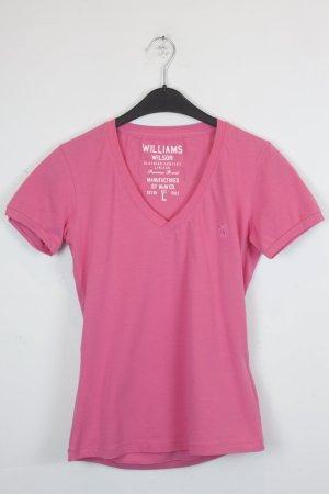 Williams Wilson T-Shirt Gr. L pink bunter Print mit Strasssteinen (18/3/309)