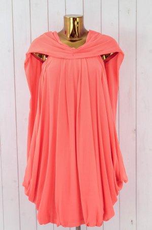 WILLOW Kleid Cocktailkleid Abendkleid Festlich Hummer Orange Rot Seide Gr. 38