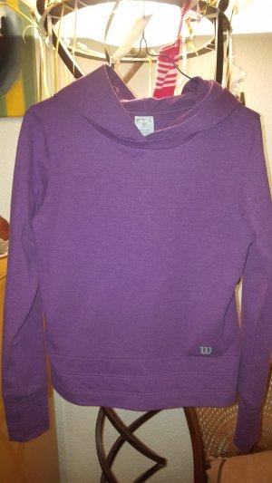 Wilson Jersey con capucha púrpura-violeta Algodón