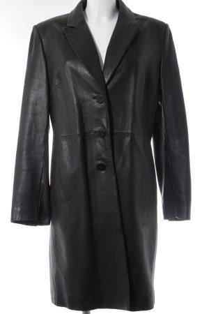 Wilson Manteau en cuir noir Look de motard