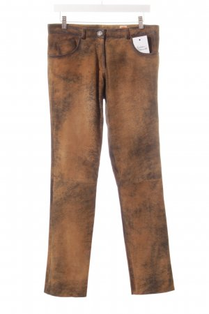 Wimmer Traditional Leather Trousers brown-dark brown color gradient