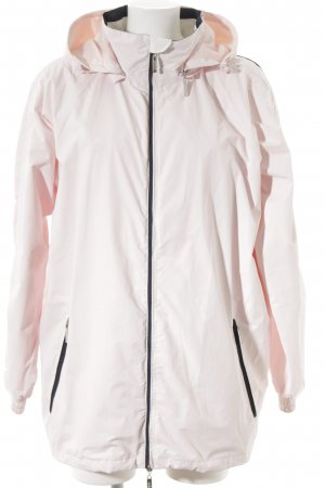 Wind Daunenjacke rosé-weiß schlichter Stil