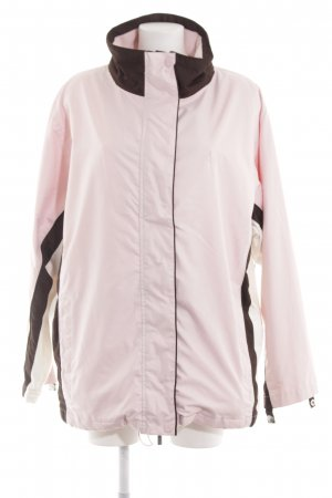Wind Outdoor Jacket pink striped pattern casual look