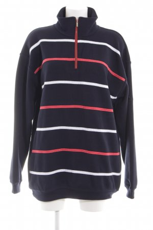 Wind Sweatshirt Streifenmuster Casual-Look