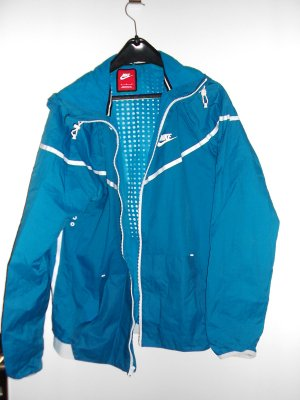 Nike Windbreaker neon blue nylon