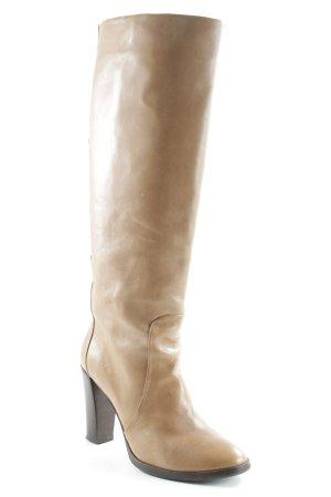 Windsor Stivale con tacco marrone scuro-color cammello stile casual