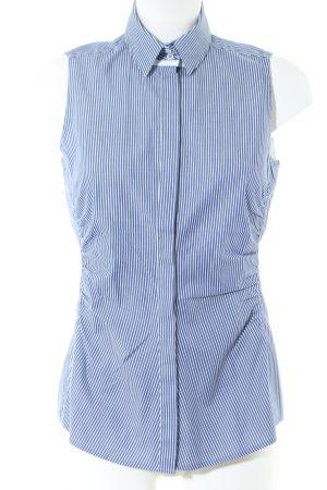 Windsor ärmellose Bluse blau-weiß Streifenmuster Business-Look