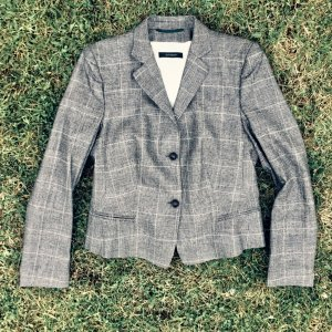 Windsor Wool Blazer black-light grey
