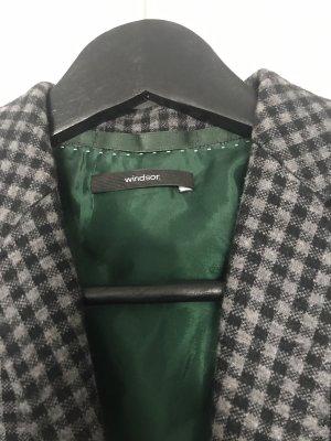 Windsor Blazer de lana gris claro-negro