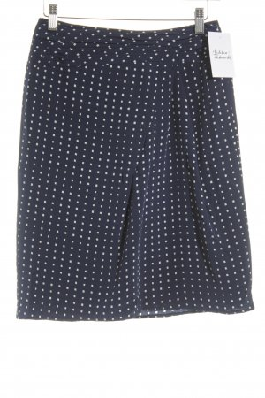 Windsor Pencil Skirt dark blue-white check pattern business style