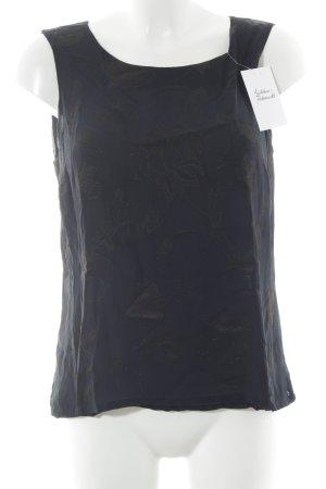 Windsor Blusa nero motivo floreale elegante