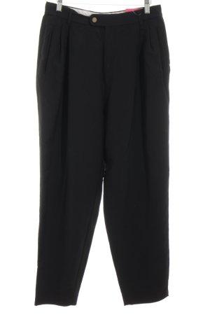 Windsor Bundfaltenhose schwarz klassischer Stil