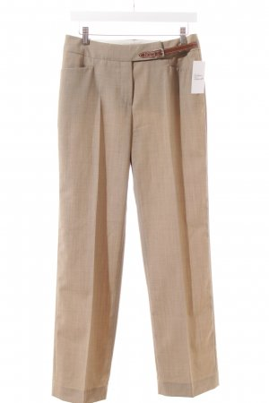 Windsor Bundfaltenhose beige-braun Business-Look