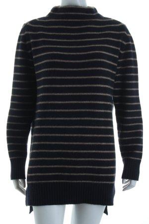 Windsor Cashmerepullover dunkelblau-beige Streifenmuster Marine-Look