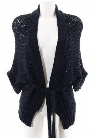 Windsor Coarse Knitted Jacket petrol casual look