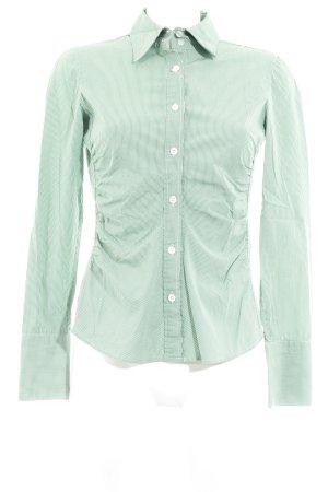Windsor Hemd-Bluse grün Streifenmuster Business-Look