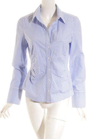 Windsor Hemd-Bluse hellblau-weiß Karomuster Casual-Look