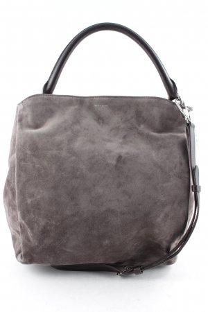 "Windsor Carry Bag ""Suede Hobo Bag Brown"" grey brown"