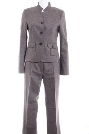 Windsor Broekpak grijs gestippeld zakelijke stijl