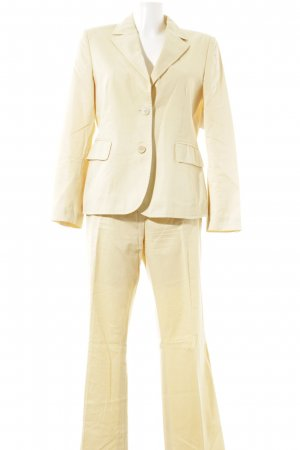 Windsor Trouser Suit pale yellow business style