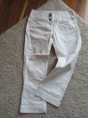 Windsor Jeans in weiß, 3/4 lang, Gr. 27, selten getragen