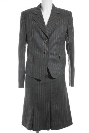 Windsor Kostüm anthrazit-grau Streifenmuster Brit-Look