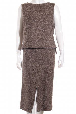 Windsor Kostüm hellbraun-dunkelbraun Business-Look